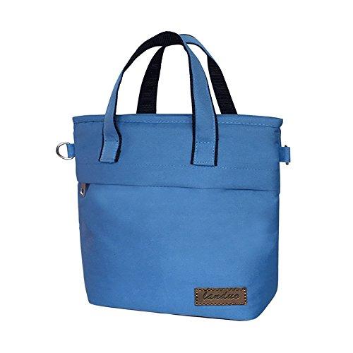Aislamiento, frío, portátil oblicua trompeta Mummy bolsa, mini bolsa ( Color : Gris ) Azul