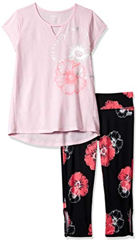Flower Capri Set - Marika Girls' Big Capri Sets with Headband, Soft Petal Flower, 7/8