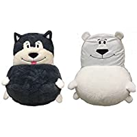 Flipazoo Plush Chair - Husky/Polar Bear