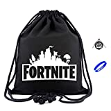 Fortnite Dawstring Bags Games Travel Backpacks Boys Men Canvas Gym Bag with Gifts