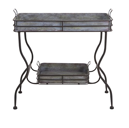 65361 Durable Maggie Galvanized Table