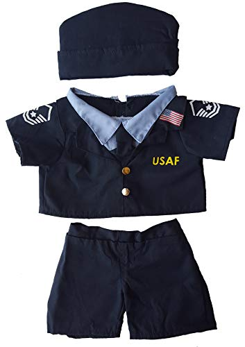"Air Force Uniform Outfit Teddy Bear Clothes Fits Most 14"" - 18"" Build-a-bear and Make Your Own Stuffed Animals"
