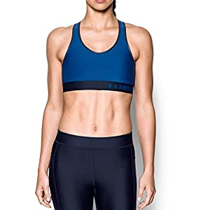 Under Armour Women's Armour Mid Sports Bra, Lapis Blue/Lapis Blue, Medium