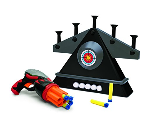 Floating Target Shooting Gallery, Includes Gun and 6 Foam Projectiles And Built-in Storage - Auxiliary Tray