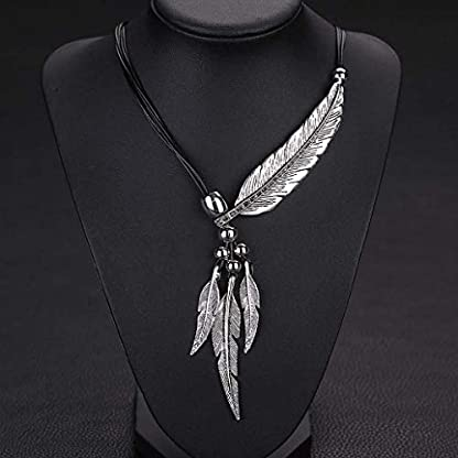 Wcysin Women Girls Antique Vintage Time Necklace Sweater Chain Pendant Jewelry Silver