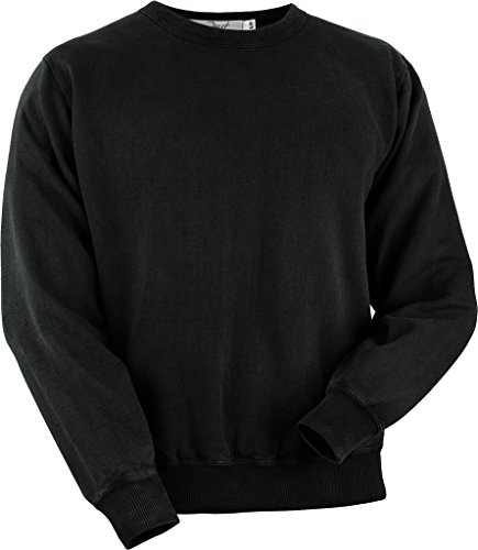 (JustSweatshirts Unisex 100% Cotton Crewneck Sweatshirt Black XX-Large)