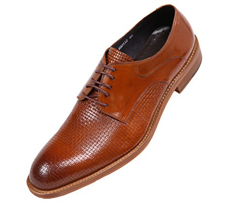 - Asher Green Mens Genuine Woven Buffalo Leather Oxford, Lace up Dress Shoe, Wood-Like Sole, Style AG210
