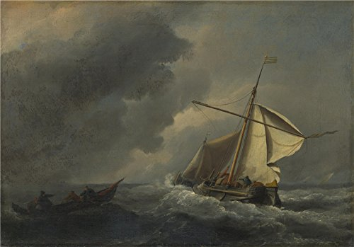 [Oil Painting 'Willem Van De Velde A Dutch Vessel In A Strong Breeze', 20 x 29 inch / 51 x 73 cm , on High Definition HD canvas prints is for Gifts And Basement, Home Office And Powder Room] (Im The Pope Costume)
