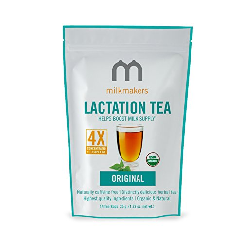 Milkmakers Lactation Tea, 1.23 Ounce, Original Flavor, 14 Tea Bags