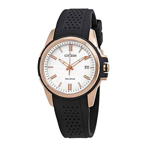 Citizen AR Silver Dial Silicone Strap Ladies Watch FE6133-09A