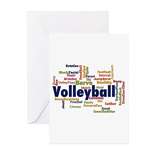 - CafePress - Volleyball Greeting Cards - Greeting Card (10-pack), Note Card with Blank Inside, Birthday Card Glossy