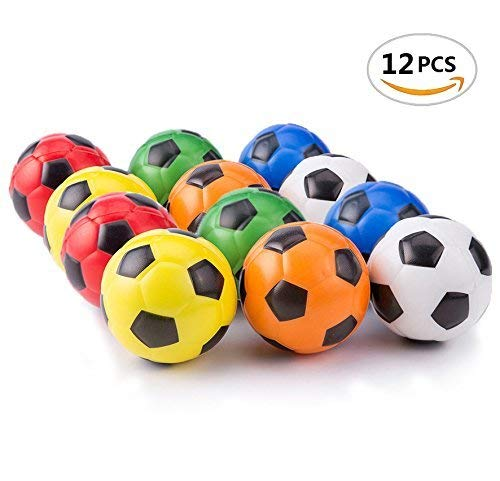 Mseeur Mini Sports Stress Balls Soccer Balls Fun, 12-pack]()