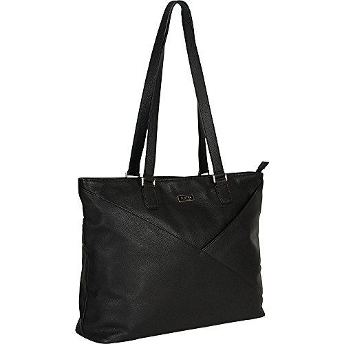 Kenneth Cole East Bay Babe Leather 15'' Laptop Business Tote Bag in Black by Kenneth Cole LLC