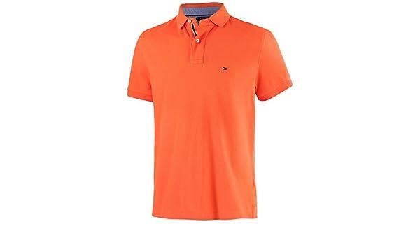 Tommy Hilfiger – Polo para Hombre, Naranja: Amazon.es: Deportes y ...