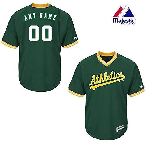 Adult 2XL Oakland Athletics CUSTOM (Any Name/# on Back) Major League Baseball Cool-Base V-Neck Jersey