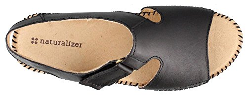 Black Heel Leather Women's Low Scout Sandals Leather Naturalizer Fw7OqYIxqc