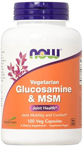 NOW Glucosamine &  MSM,120 Veg Capsules (Vegetarian Chondroitin Glucosamine)