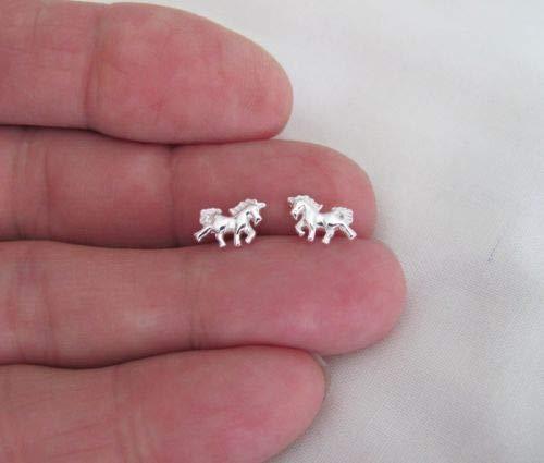 1x Piece of Sterling Silver Unicorn Post Stud Earrings