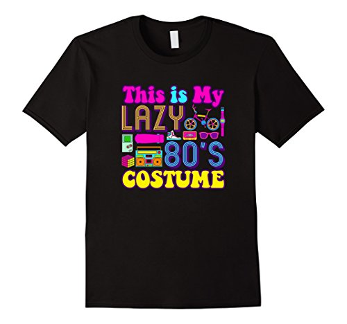 Mens Easy Halloween Costume For Adults Lazy 80's Costume T-Shirt XL (Easy 80's Costumes Men)