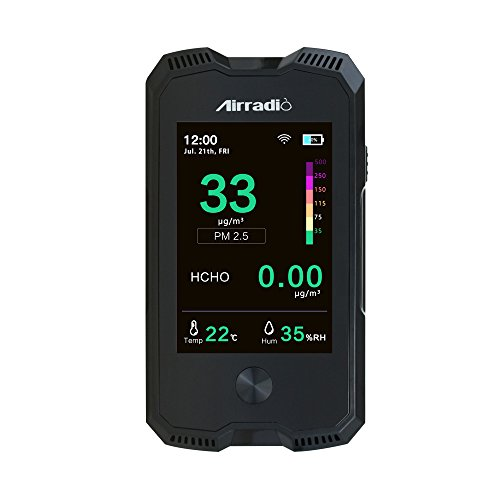 AirRadio A6 5 in 1 indoor air quality meter PM2.5 PM10 Temperature Humidity Formaldehyde HCHO by AirRadio