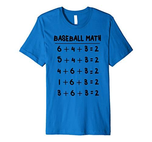6 4 3 2 Baseball Math Shirt | Cute Softball Game Tee -