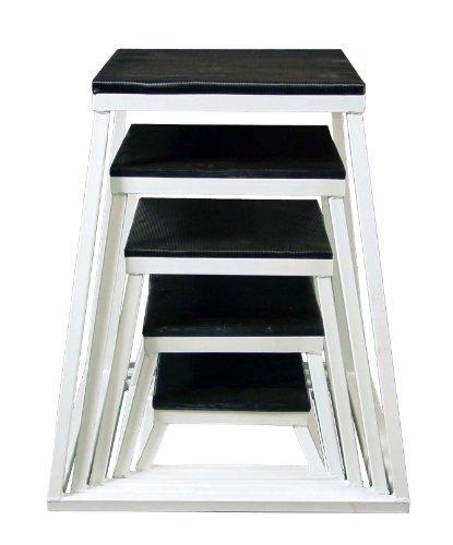 Ader Plyometric Platform Box Set- 6'', 12'', 18'', 24'', 30'' White by Ader Sporting Goods