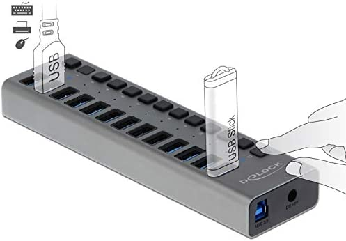 Delock External Usb 3 0 Hub With 13 Ports Switch Elektronik