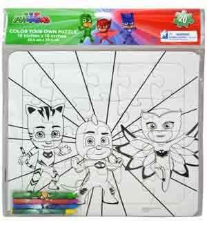 PJ Masks Color Your Puzzle 12.5x10.5x0.2 [Contains 2 Manufacturer Retail Unit(s) Per Amazon Combined Package Sales Unit] - SKU# 6039999 (0.2 Units)
