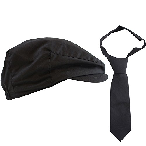 juDanzy 2 piece cabbie driver hat & necktie set for baby toddler & kids