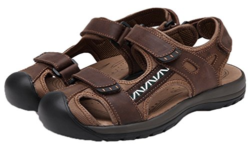 Boys' Beach Stick Breathable Summer New Brown Soft Magic Men's Sandals Closed Pointss Fisherman Deep Shoes Toe Sandals 1SqqwC