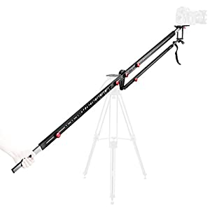 Neewer 9 feet/2.7 meters Carbon Fiber Extendable Camera Crane Jib Tilt Arm with Carry Case for Nikon Canon Sony Fujifilm DSLR Camera Camcorder Video Movie Film Making,Hold up to 11 pounds/5 kilograms