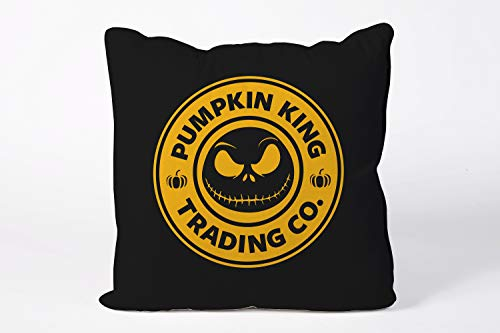 King65irginia Jack Skellinton Pumpkin Fairy Tale Cushion Cover Fairy Tale Pillowcase Halloween Quote Pillowcase Home Decor Gifts Christmas Nightmare Before Christmas