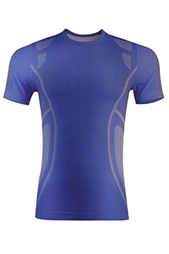 Royal Blue Player T-shirt - +MD Moisture-Wicking Short Sleeve T-Shirt Unisex Running Fitness Workout Base Layer Shirt XL Royal Blue