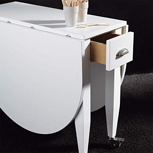 Mesa Consola Extensible Blanca Mama: Amazon.es: Hogar
