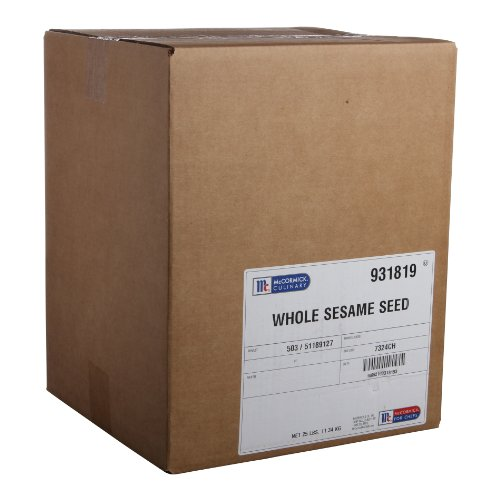 McCormick Culinary White Sesame Seeds, 25 lbs