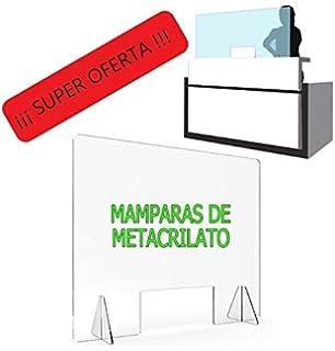 Mampara Metacrilato Aula | Fácil Instalación | Separación de pupitres o Frontal | Protector para colegios | Metacrilato de 3mm | (Separación Pupitres, 60,5 x 140 cm): Amazon.es: Bricolaje y herramientas