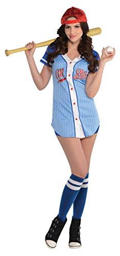Amscan Adult Baseball Babe Costume - Large -