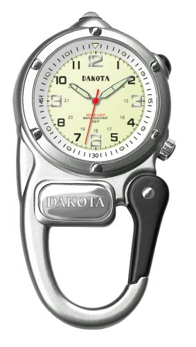 Dakota+Silver+Mini+Clip+Microlight+Watch