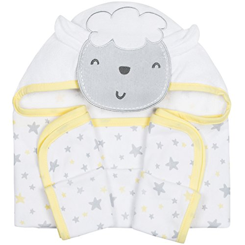 Gerber 3D Hooded Bath Wrap, Lamb, 22