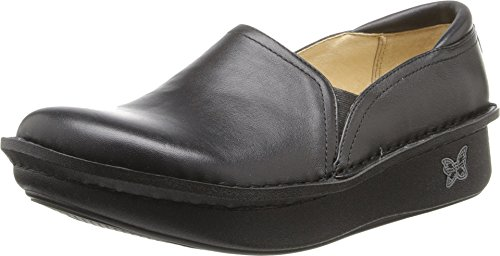 Alegria Women's Debra Professional Black Leather Clog/Mule 36 (US Women's 6-6.5) Wide by Alegria