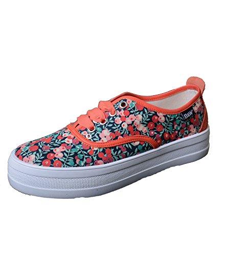 Break & Walk Sneaker mit Plateausohle und Blumenmuster B&W Schuhe