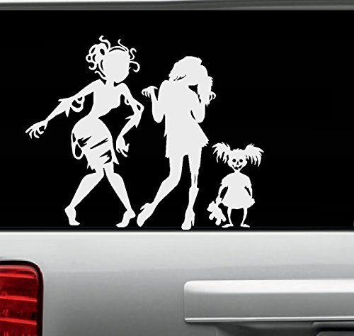 Zombie Girls (Ghouls) Gone Wild #2 ~ Wall or Auto Decal Three Silhouettes 13