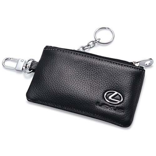 lexus-car-key-holder-remote-cover-fob-with-1-metal-keychain-genuine-leather