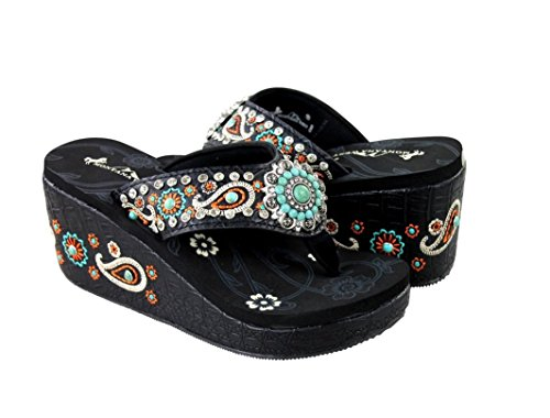 high-wedge-flip-flops-platform-sandals-turquoise-concho-paisley-embroidery-size-10