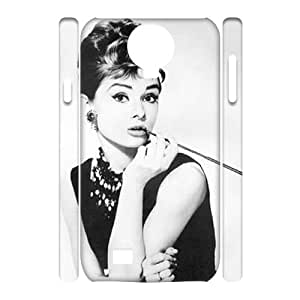 wugdiy Customized Cell Phone 3D Case Cover for SamSung Galaxy S4 I9500 with DIY Design Audrey Hepburn
