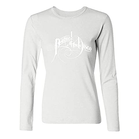YangJJ Women's Panic! At The Disco A Fever You Can't Sweat Out Long Sleeve T shirts Size XXL White (What Did Kanye)