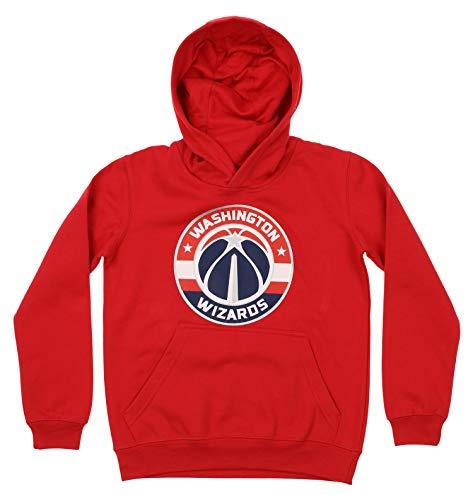 Outerstuff NBA Youth Boy's (8-20) Primary Logo Team Color Fleece Hoodie, Washington Wizards Medium(10-12)
