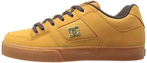 DC Skateboard Shoes PURE SE WHEAT/DARK CHOCOLATE Size 10