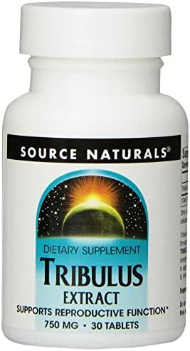 Source Naturals Tribulus Extract 750mg, Supports Reproductive Function, 30 Tablets