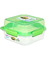 Sistema Lunch Stack Square To Go 1.24L - Green